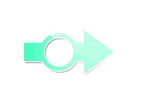 Right arrow (light blue)