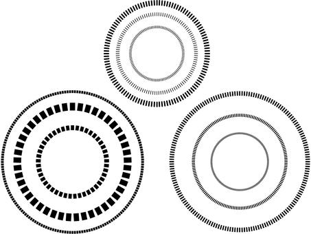 Broken circle material