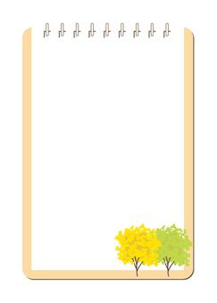 Memo pad · ginkgo tree B