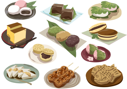 Japanese sweets no collective line