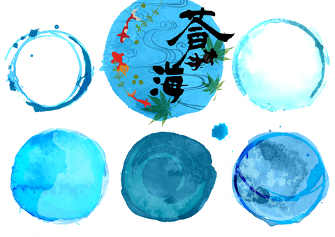 日式标题装饰(蓝色)