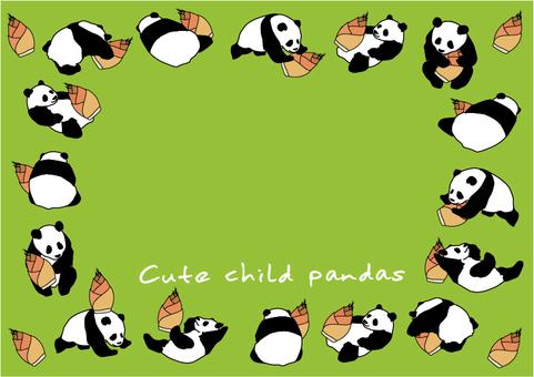 귀여운 아이 팬더 양 2
