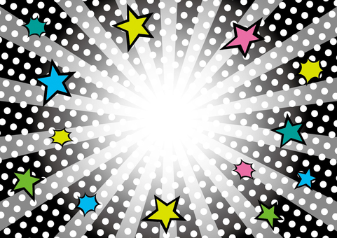 Dot pattern concentration line _ background 09