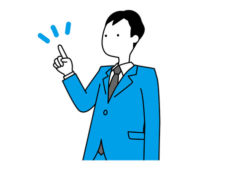 Simple office worker-pointing (upper body)