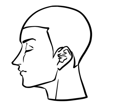 Human side profile