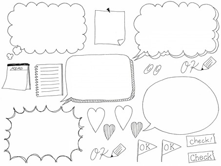 Speech balloon handwriting material collection