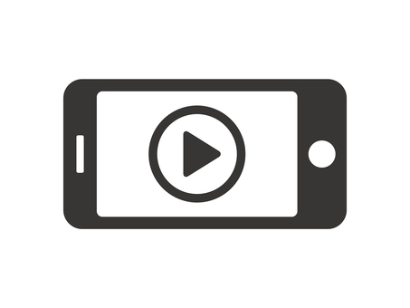 Smartphone video playback icon