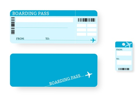 Air ticket material