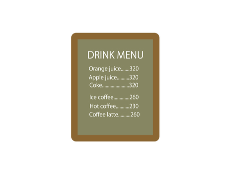 음료 메뉴 보드