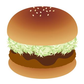 햄버거 돈까스 버거