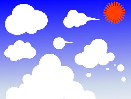 Cloud Banner Set Summer