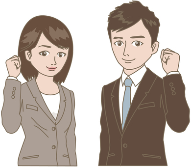 Business man and woman 01