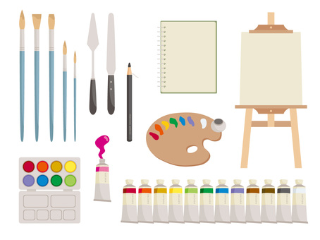 Various painting materials _ 01