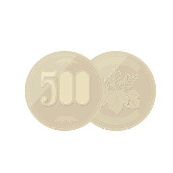 Two 500 yen coin