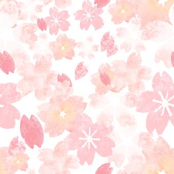수채화 벚꽃 원활한 패턴