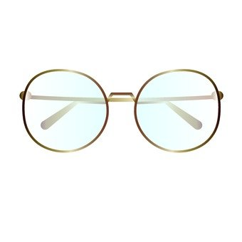 Glasses _ gold metal