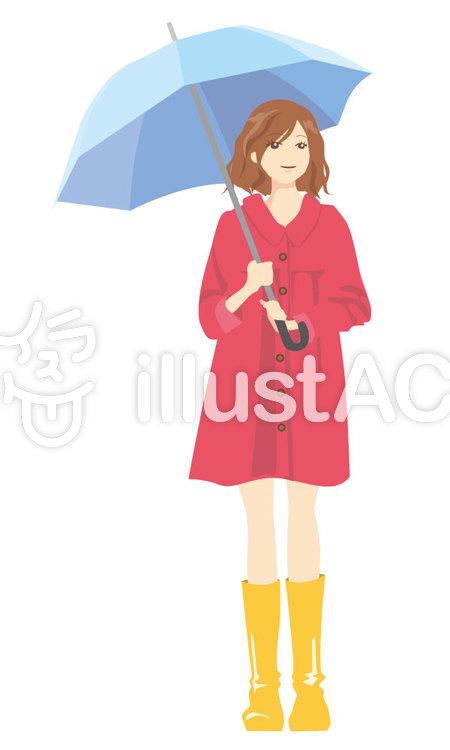 傘をさす女の子イラスト No 73321無料イラストならイラストac