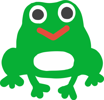 A giant cute frog