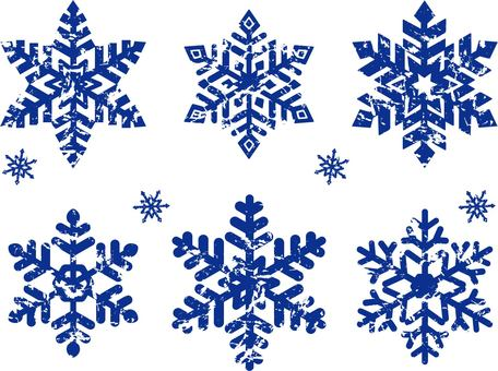 Snow flake, stamp, wind