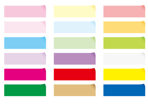 Sticky note - each color