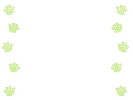 녹색 거친 발자국 프레임