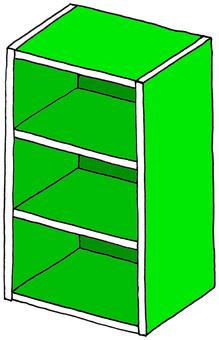 삼단 상자 녹색
