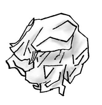 Crumpled paper trash or tissue