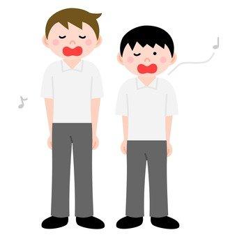 Singing boys