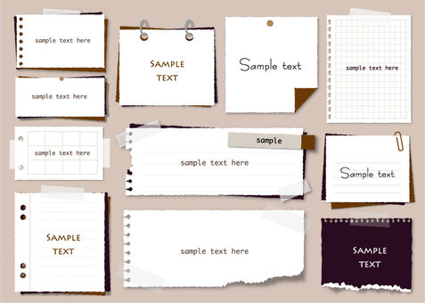 Simple memo pad set 3