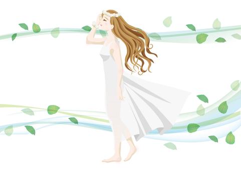 A windy smart woman