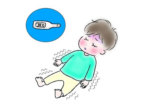 Febrile cramp child