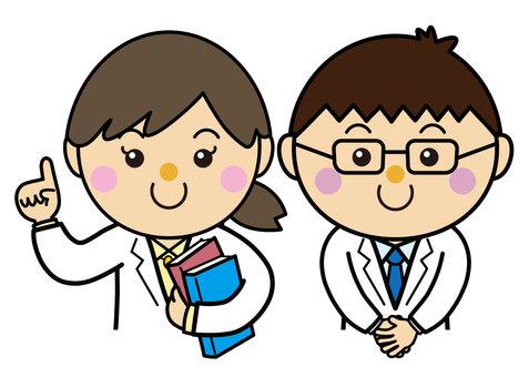 Gender 18_02 (white coat, doctor, researcher)