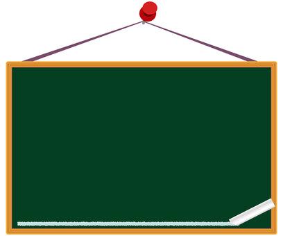 Hanging type blackboard background frame material