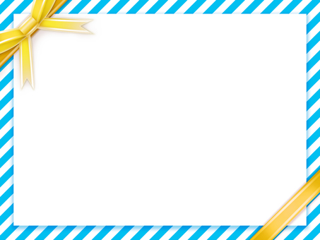Blue for summer × white line Yellow ribbon on background