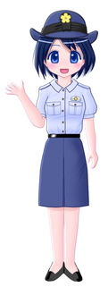 Police wearing summer clothing