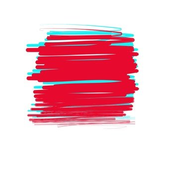 Overpainted red and blue