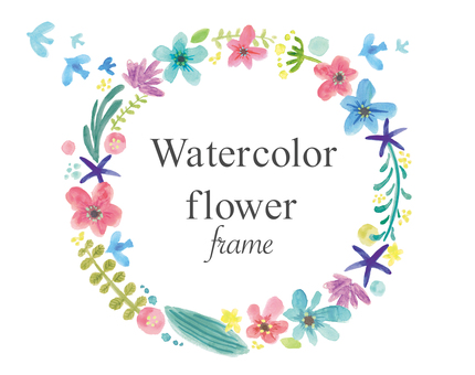 Watercolor picture flower frame