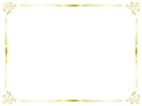Gold frame 16