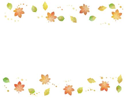 Cute autumn leaves frame