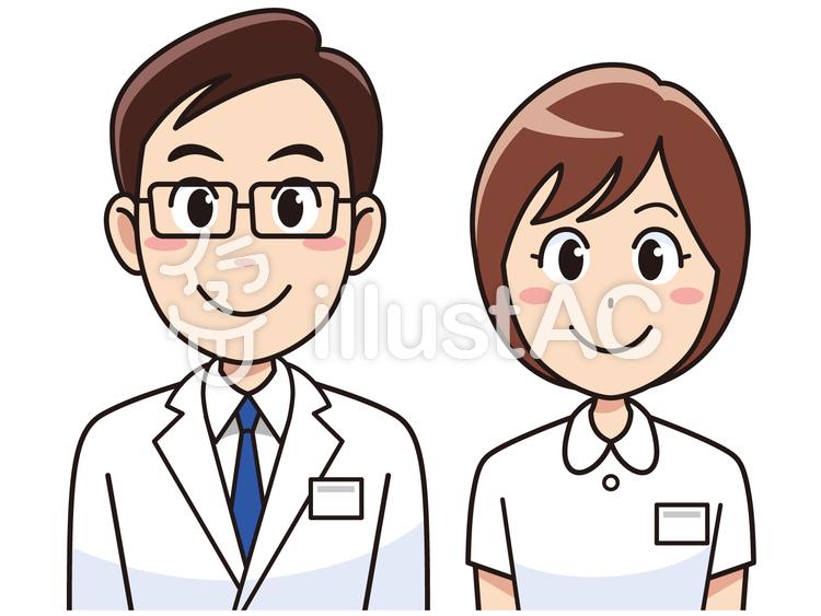 笑顔の医者と看護師イラスト No 127406無料イラストならイラストac
