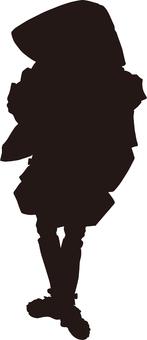 Ukiyo-e character silhouette part 102