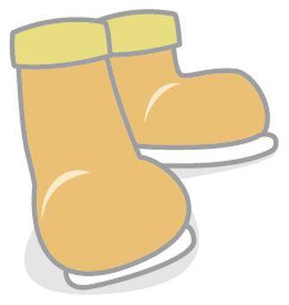 Orange boots