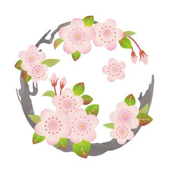 花丸紋様(桜)