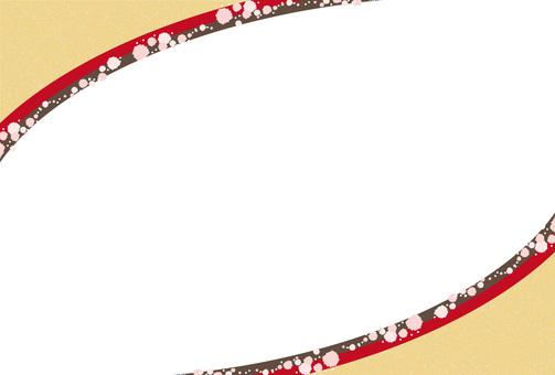 Japanese pattern flower line