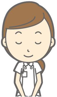 Female nurse - Bow - Smile - Bust