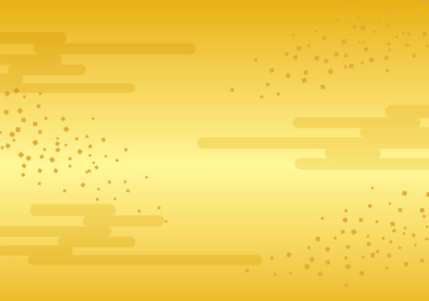 Japanese pattern ☆ Gold color ☆ Background picture (Confetti + cloud background)