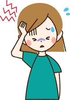 Headache woman _ NB 22