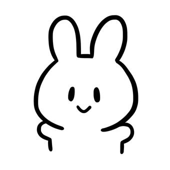 White simple rabbit