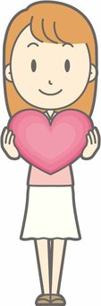 Young lady - Heart - whole body