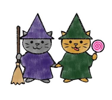 Halloween Cats 3 (hand-drawn style)